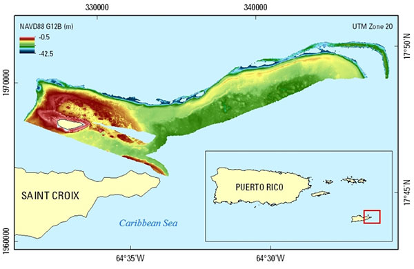 eaarl b submerged topography extent for saint croix us virgin islands data were
