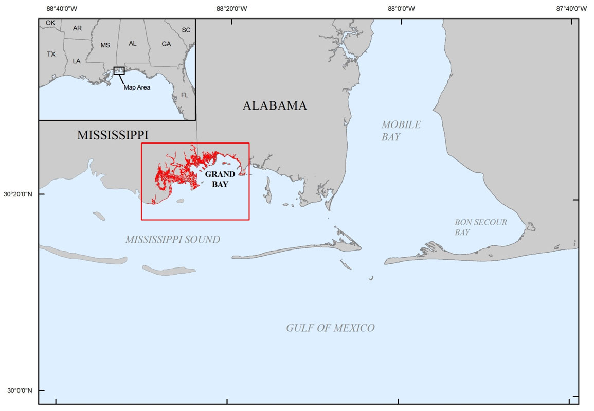 Picture of: Data Release A Gis Compilation Of Vector Shorelines Derived From Aerial Imagery For The Grand Bay Region Of Mississippi And Alabama 2010 And 2012