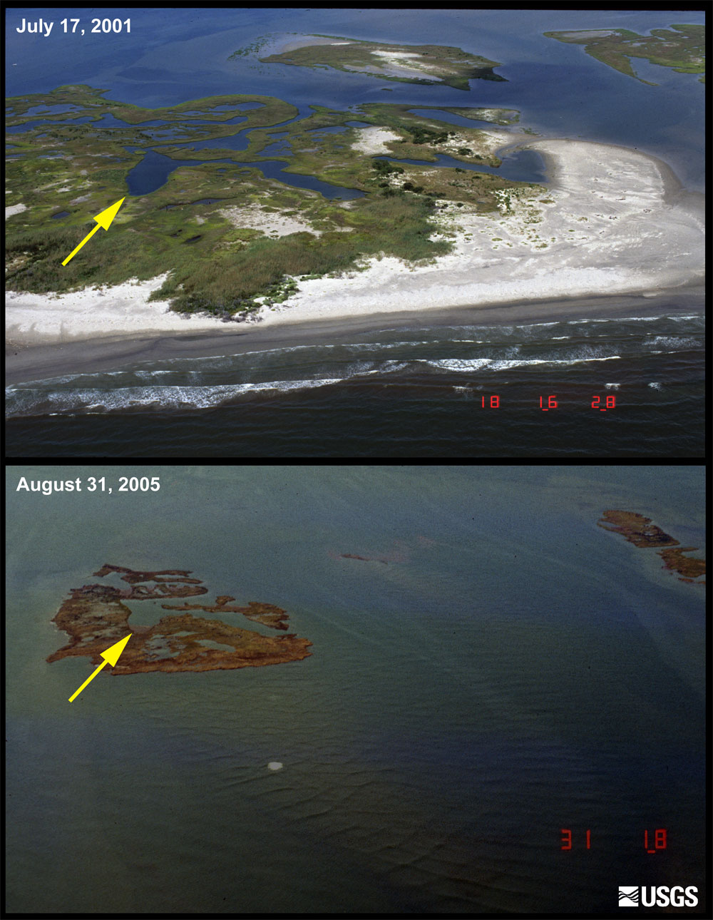 Before and After Photo Comparisons, Chandeleur Islands ...