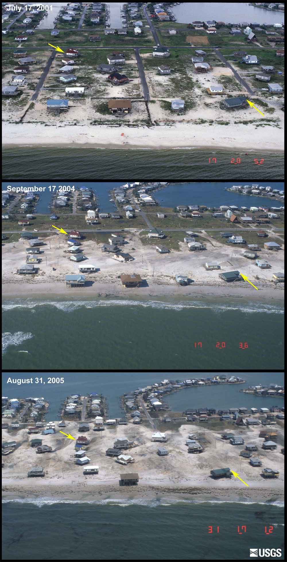 Before and After Photo Comparisons, Dauphin Island ...