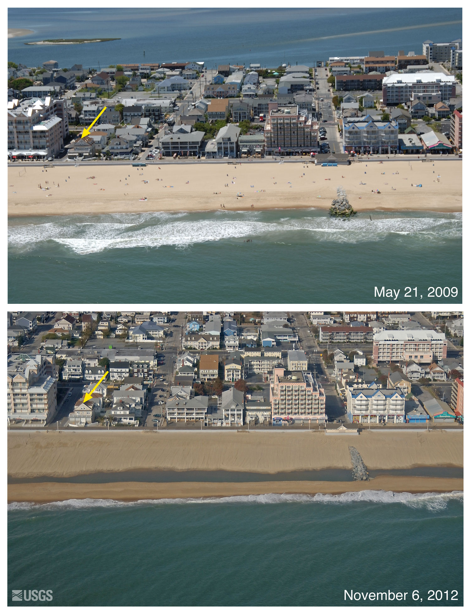 Pre And Post Storm Photo Comparisons For Delaware And Maryland Hurricane Sandy National