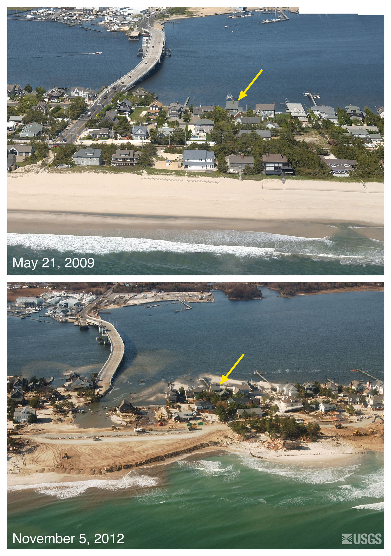 Pre And Post Storm Photo Comparisons For New Jersey