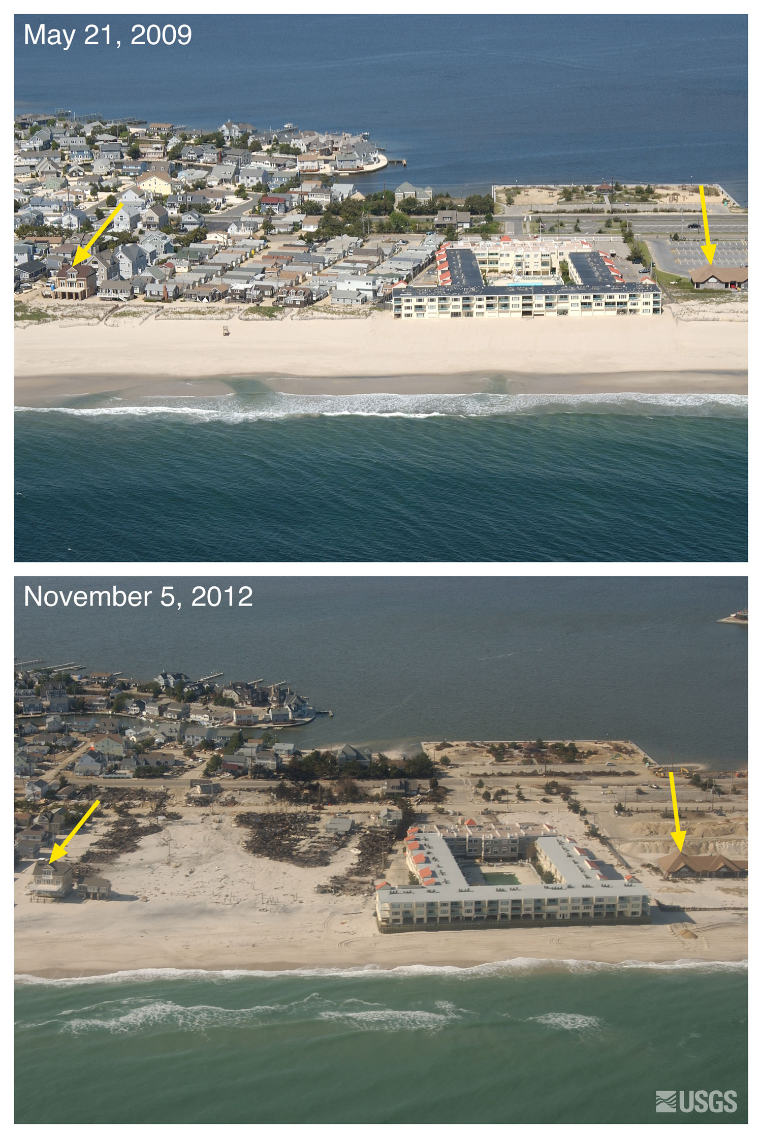 Pre and post storm photo comparisons for new jersey for Build on your lot new jersey