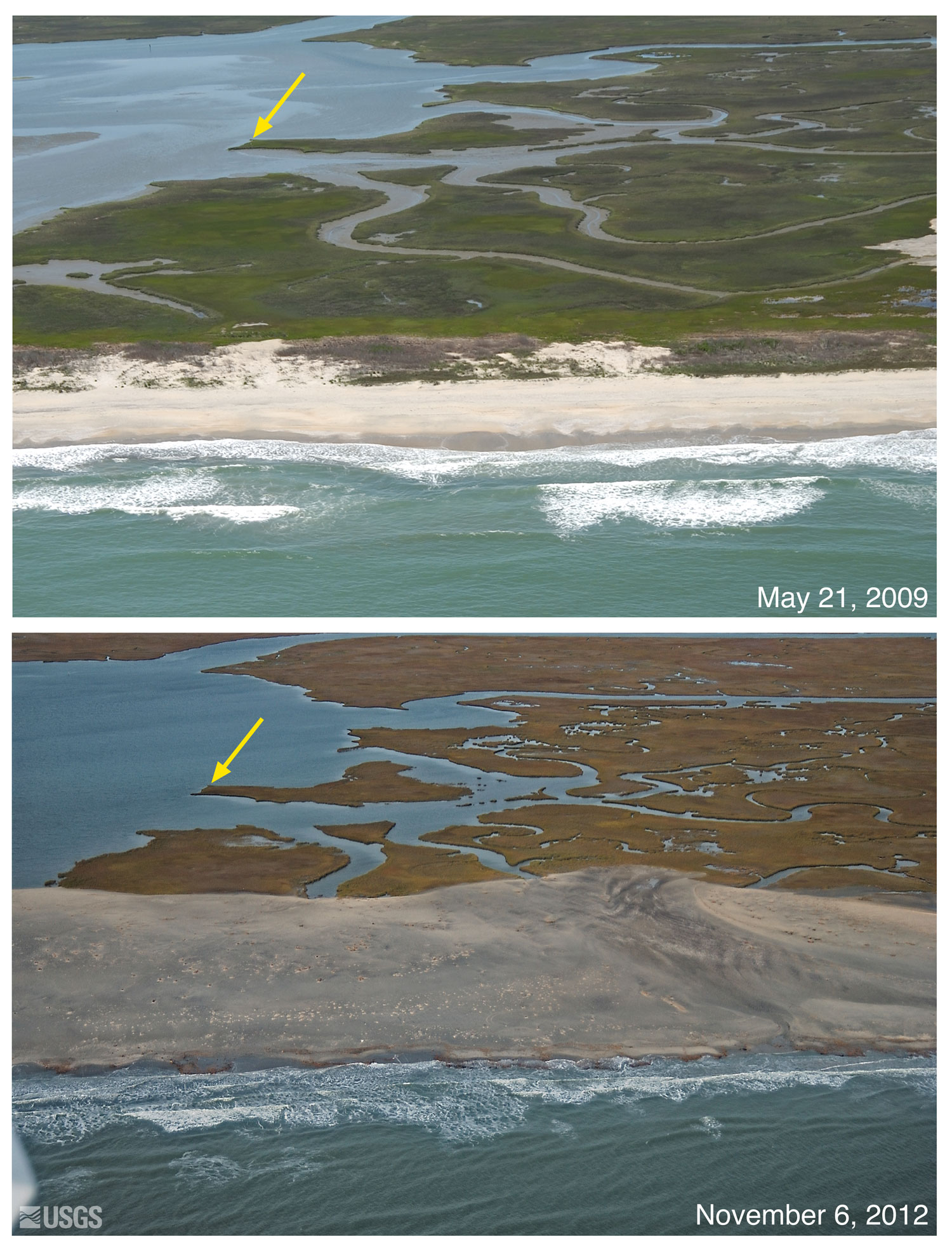 Pre And Post Storm Photo Comparisons For Virginia Hurricane Sandy National Assessment Of