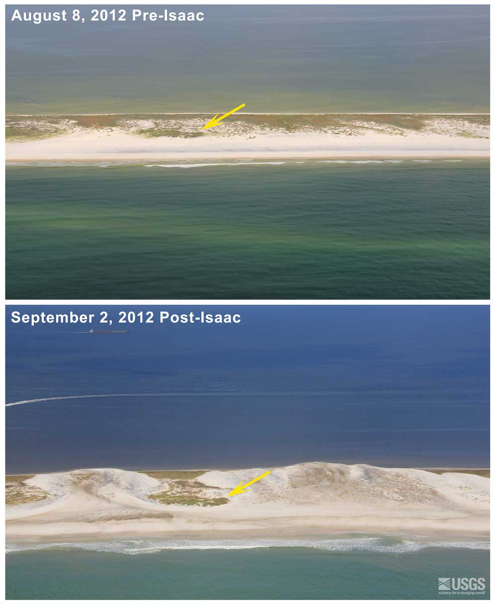Pre And Post Storm Photo Comparisons Hurricane Isaac National Assessment Of Storm Induced