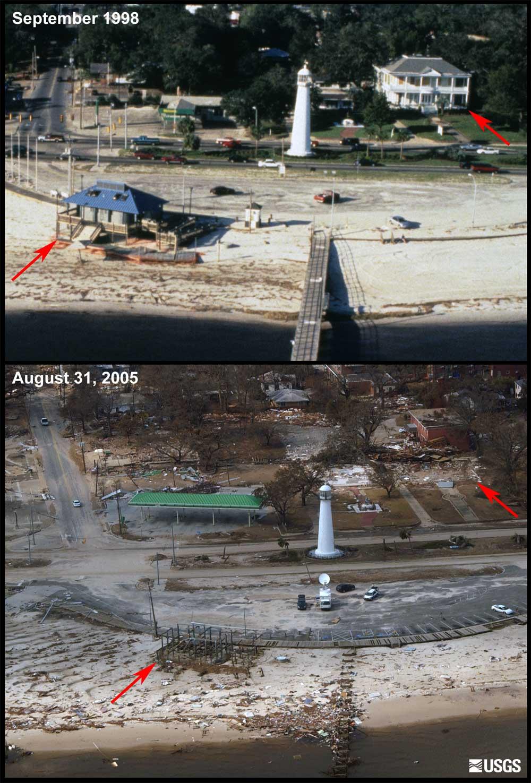 Before And After Photo Comparisons Mainland Mississippi Hurricane Katrina Coastal Change