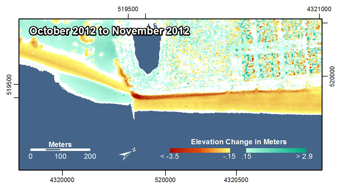 Elevation Of Stone Harbor Nj : Pre and post storm d lidar topography for new jersey